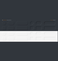 neomorphic buttons set neomorphism design vector image