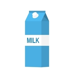 paper packet with milk vector image