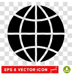 Planet Globe Eps Icon vector