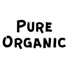 pure organic label vector image