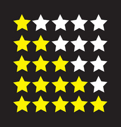 Rating stars icon vector