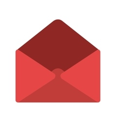 Red letter or email symbol vector