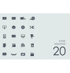 Set animation icons vector