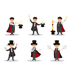 Set of magicians vector