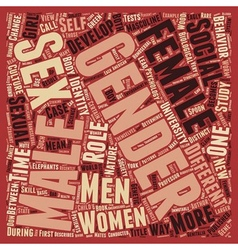 Sex or Gender text background wordcloud concept vector