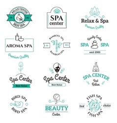 Spa beauty and body care logo templates vector