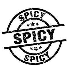 Spicy round grunge black stamp vector