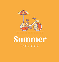 Summer with a bicycle vector