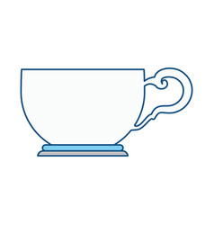 tea cup isolated vector image