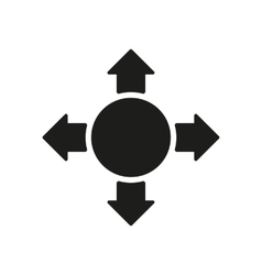 The arrow icon Search symbol Flat vector