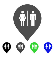 toilet marker flat icon vector image