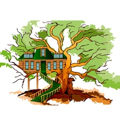 Tree house vector