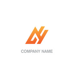triangle line abstract business company logo vector image