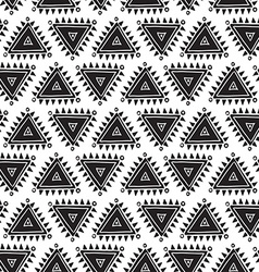 Tribal seamless pattern with triangles Geometric vector
