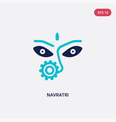 Two color navratri icon from india concept vector