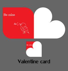 valentine card with bird vector image