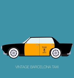 vintage barcelona taxi vector image