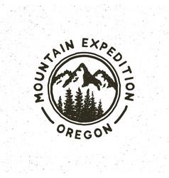 vintage wilderness logo hand drawn retro styled vector image