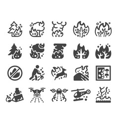 wildfire icon set vector image