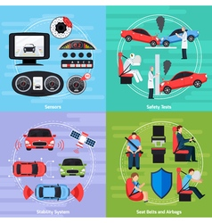 Car safety systems template vector