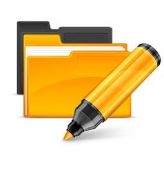 felt tip pen folders vector image