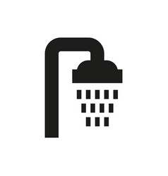 shower icon on white background vector image