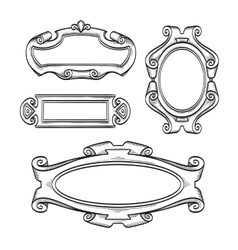 Vintage cartouches isolated vector image vector image