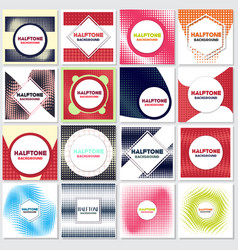 vintage halftone style background design template vector image vector image