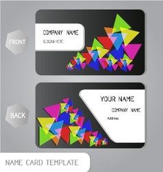 Abstract name card business design vector image vector image