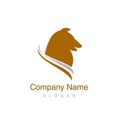 collie logo vector image vector image