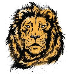 Lion Head Stencil vector image vector image