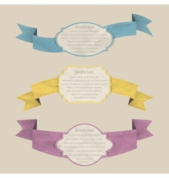 Ribbons set vector image vector image