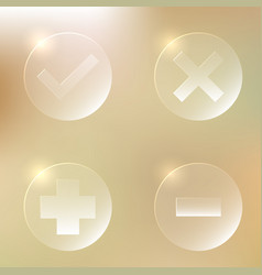 set of glassy icon set of glassy icon vector image