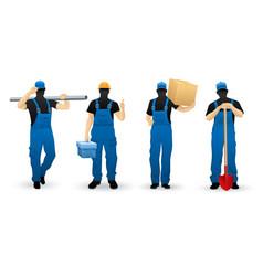 worker people set of man vector image vector image
