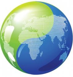 yin yang globe vector image vector image