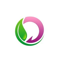 beauty green leaf eco logo vector image vector image
