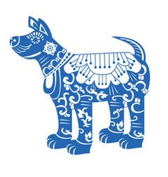 dog chinese new year zodiac symbol 2018 vector image