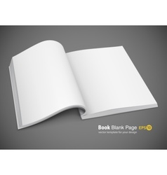 open spread of book with vector image vector image