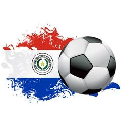 Paraguay Soccer Grunge Design vector image vector image