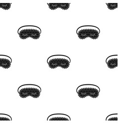 blindfolds icon in black style isolated on white vector image