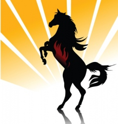 horse fire vector image vector image