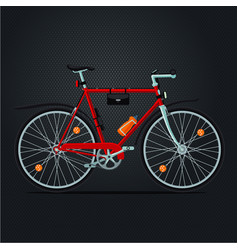 mountain bicycle realistic sport bike vector image