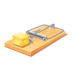 mousetrap isolated vector image vector image