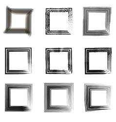 set vintage frames for photos vector image
