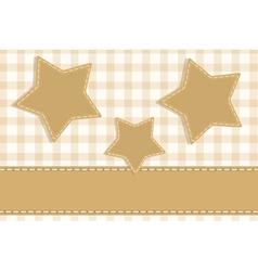 stars vintage scrapbook vector image