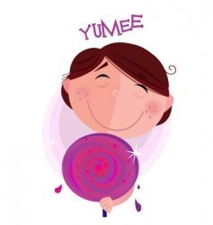 sweet lollipop vector image vector image