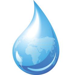 water drop globe vector image