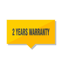 2 years warranty price tag vector image