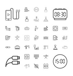 37 cable icons vector