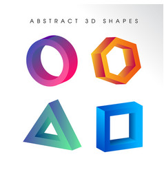 abstract 3d shape background vector image